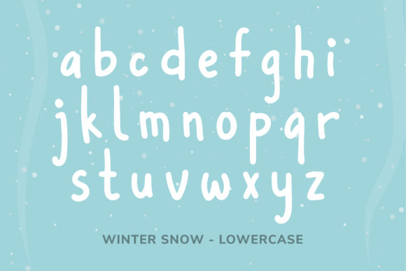 Print on Demand: Winter Snow Display Font By Helotype - Image 5