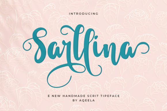 Print on Demand: Sarllina Script & Handwritten Font By Aqeela Studio - Image 8