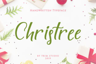 Christree Script & Handwritten Font By Trim Studio