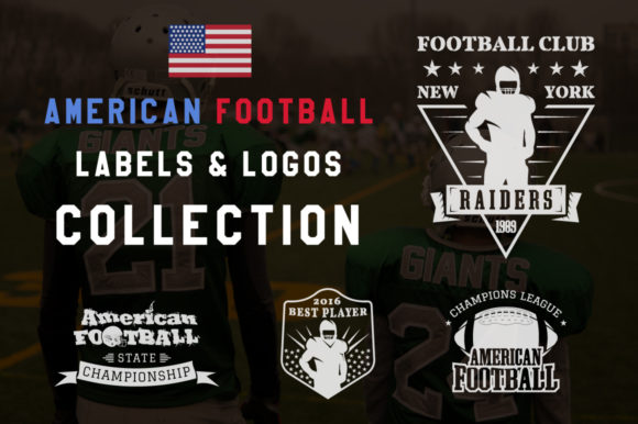 American Football Labels Graphic Logos By JeksonGraphics