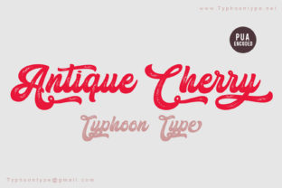 Antique Cherry Script & Handwritten Font By Typhoon Type - Suthi Srisopha