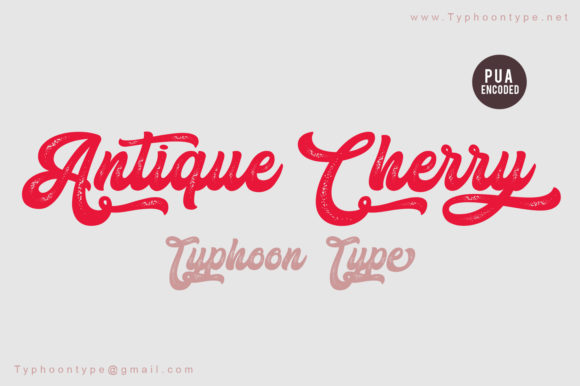 Print on Demand: Antique Cherry Script & Handwritten Font By Typhoon Type - Suthi Srisopha