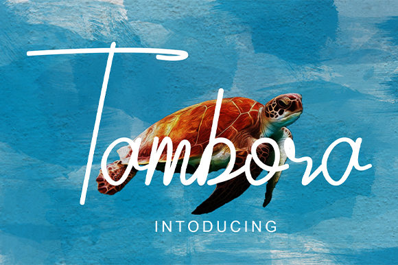 Print on Demand: Tambora Script & Handwritten Font By Nico Muslib