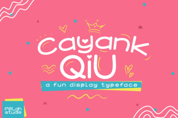 Print on Demand: Cayang Qiu Display Font By saipulkhurasan