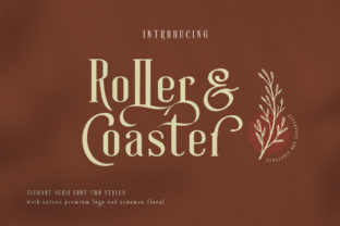 Roller Coaster Serif Font By lickermelody