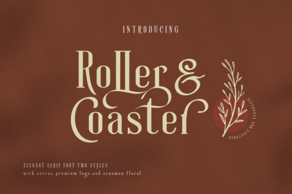 Print on Demand: Roller Coaster Serif Font By lickermelody