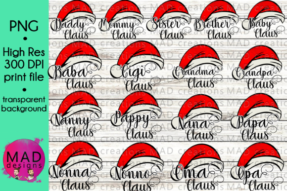 Giant Family Claus Bundle Graphic Crafts By maddesigns718 - Image 1