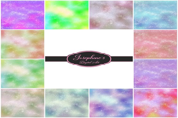Print on Demand: Iridescent Stardust 12 Digital Papers Graphic Backgrounds By Josephine's Digital Art