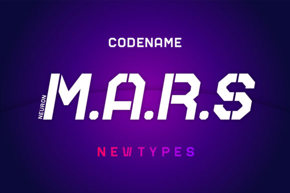 Print on Demand: Mars Display Font By neurontype