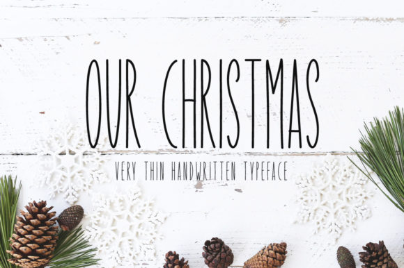 Print on Demand: Our Christmas Display Font By Instagram Fonts