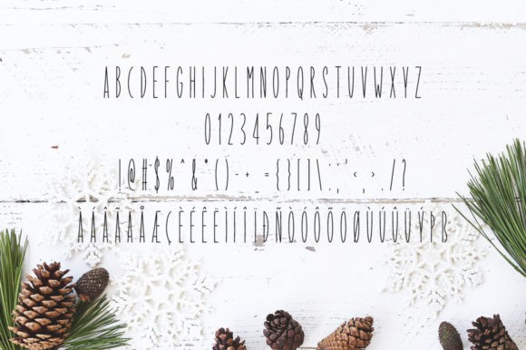 Print on Demand: Our Christmas Display Font By Instagram Fonts - Image 4