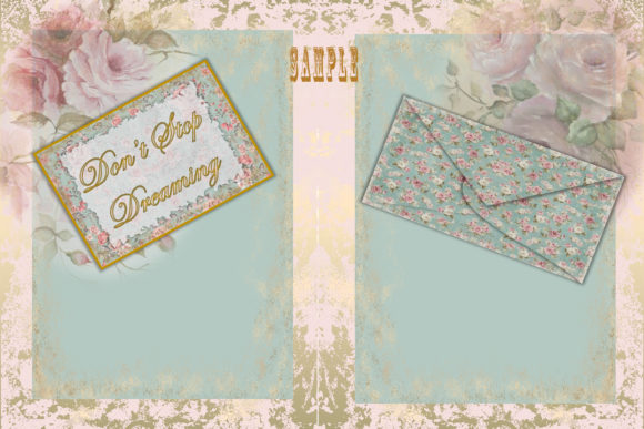 Print on Demand: Vintage Shabby Chic Full Journal Kit Graphic Crafts By The Paper Princess - Image 3