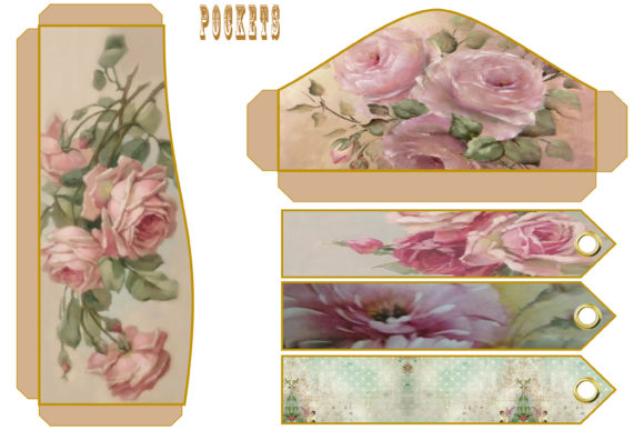 Print on Demand: Vintage Shabby Chic Full Journal Kit Graphic Crafts By The Paper Princess - Image 6