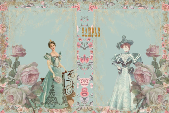Print on Demand: Vintage Shabby Chic Full Journal Kit Graphic Crafts By The Paper Princess - Image 2