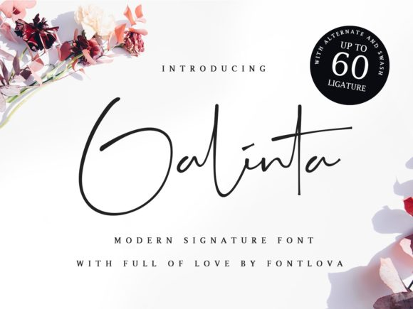 Print on Demand: Galinta Script & Handwritten Font By Ratin Creative