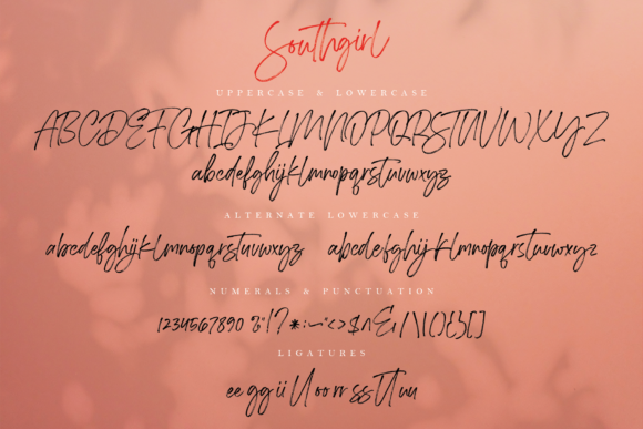 Print on Demand: Southgirl Script & Handwritten Font By Geranium.co - Image 10