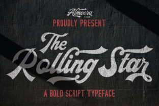 The Rollingstar Script & Handwritten Font By Almeera Studio