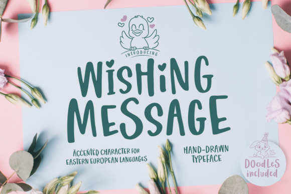 Wishing Message Manuscrita Fuente Por Situjuh
