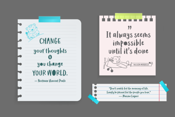 Print on Demand: Wishing Message Script & Handwritten Font By Situjuh - Image 3