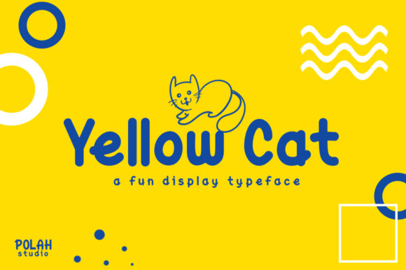 Print on Demand: Yellow Cat Display Font By saipulkhurasan