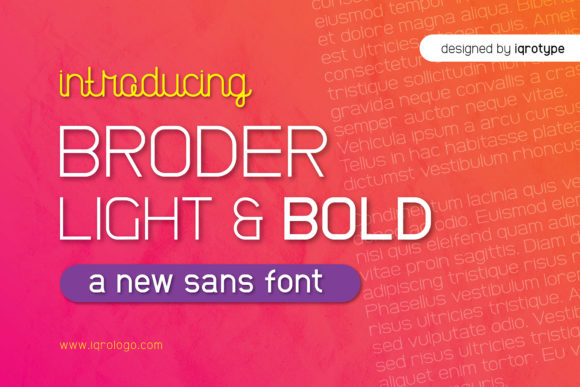 Broder Sans Serif Font By iqrotype