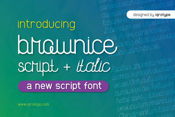 Print on Demand: Brownice Script & Handwritten Font By iqrotype