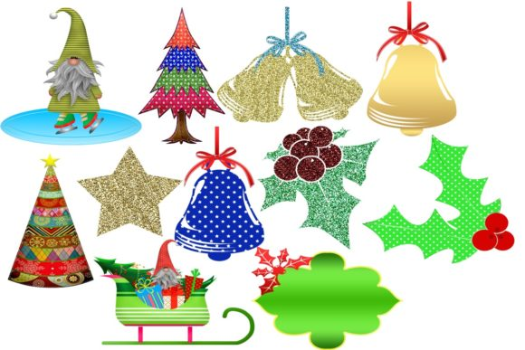 Print on Demand: 38 Christmas Gnomes Clip Art Images Graphic Illustrations By Scrapbook Attic Studio - Image 3