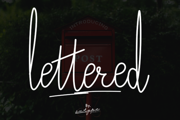 Print on Demand: Lettered Script & Handwritten Font By ignatyusbill
