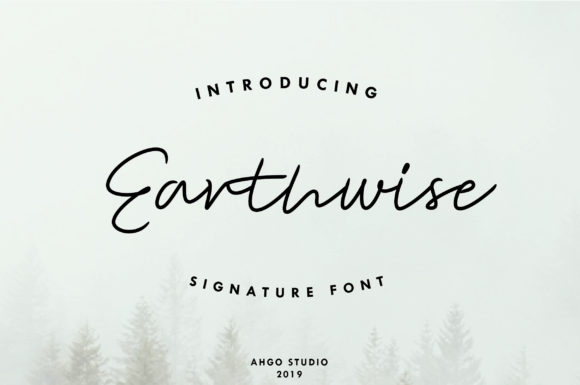 Print on Demand: Earthwise Script & Handwritten Font By Yusuf Artworks
