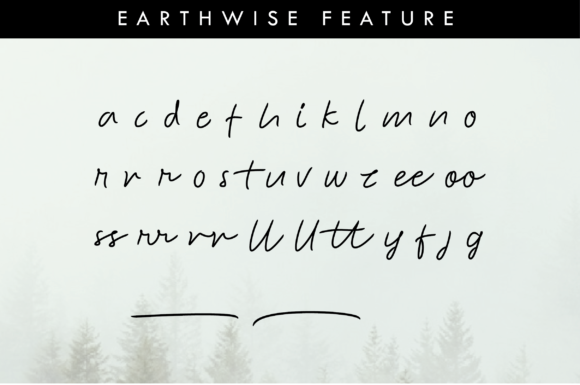 Print on Demand: Earthwise Script & Handwritten Font By Ahgo Studio - Image 8