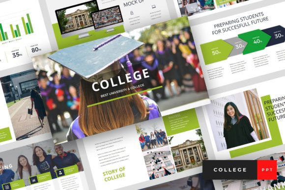 College University PowerPoint Graphic Presentation Templates By StringLabs