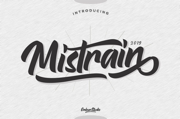Print on Demand: Mistrain Script & Handwritten Font By EmbunStudio