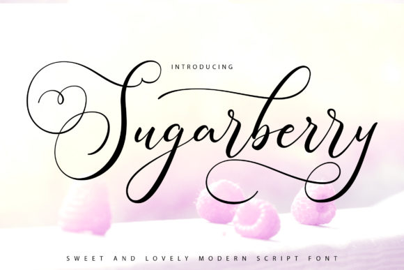 Print on Demand: Sugarberry Script & Handwritten Font By Vunira