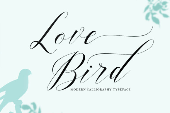 Print on Demand: Love Bird Manuscrita Fuente Por Bal Studio