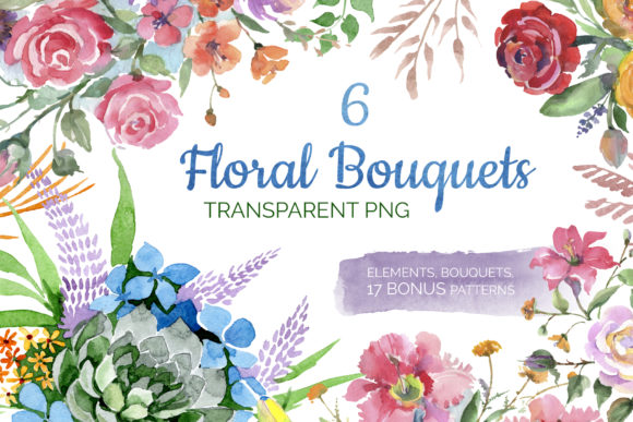 Print on Demand: Bouquet of Flowers Bright Dreams Graphic Illustrations By MyStocks - Image 1