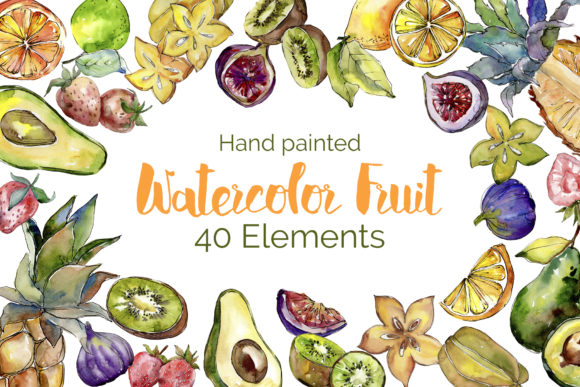 Print on Demand: Delicious Fruit Buffet Buffet Watercolor Graphic Illustrations By MyStocks