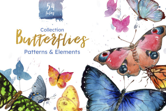 Print on Demand: Miracle of Nature Butterflies Watercolor Graphic Illustrations By MyStocks - Image 1