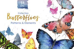 Miracle of Nature Butterflies Watercolor Graphic By MyStocks