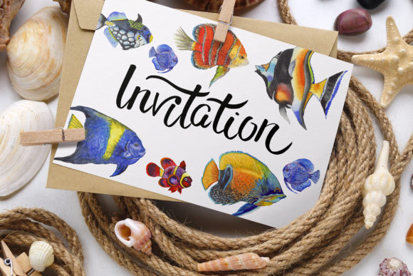 Print on Demand: Fish Illustration Watercolor Png Graphic Illustrations By MyStocks - Image 3