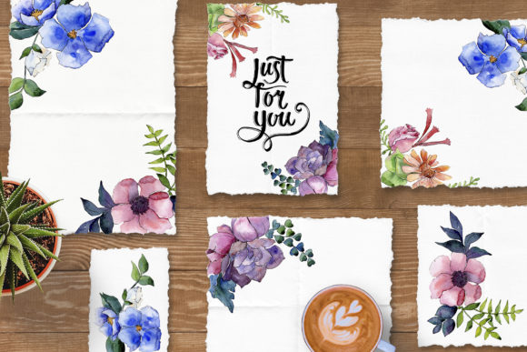 Print on Demand: Bouquet of Summer Flowers Intrigue Watercolor Graphic Illustrations By MyStocks - Image 3