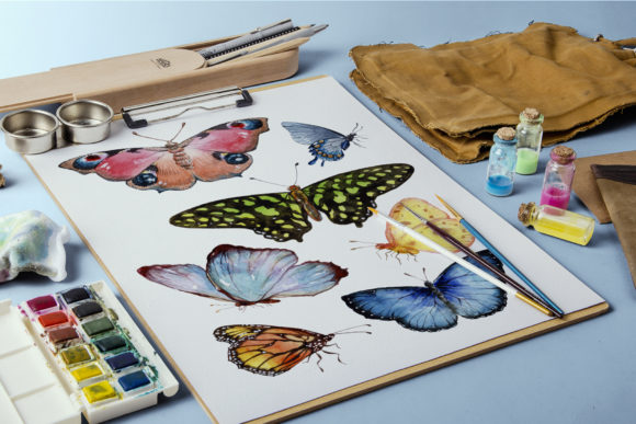 Print on Demand: Miracle of Nature Butterflies Watercolor Graphic Illustrations By MyStocks - Image 3