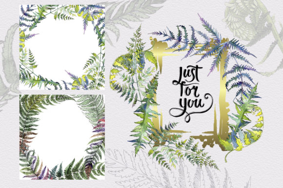 Print on Demand: Green Fern Leaves Watercolor Png Graphic Illustrations By MyStocks - Image 4