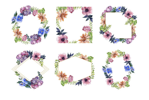 Print on Demand: Bouquet of Summer Flowers Intrigue Watercolor Graphic Illustrations By MyStocks - Image 5