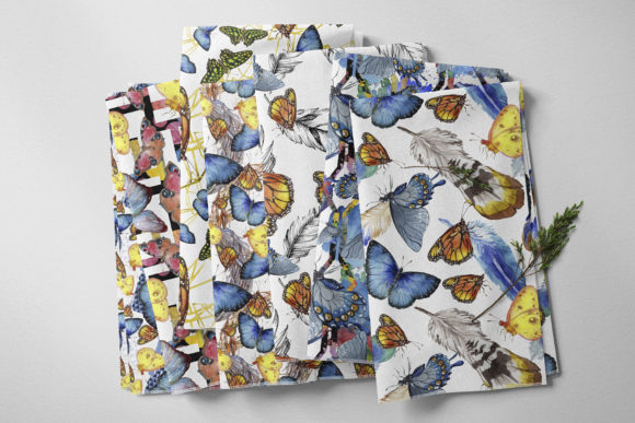Print on Demand: Miracle of Nature Butterflies Watercolor Graphic Illustrations By MyStocks - Image 5