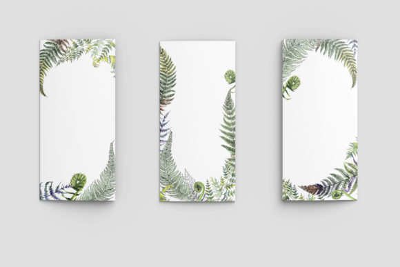 Print on Demand: Green Fern Leaves Watercolor Png Graphic Illustrations By MyStocks - Image 5