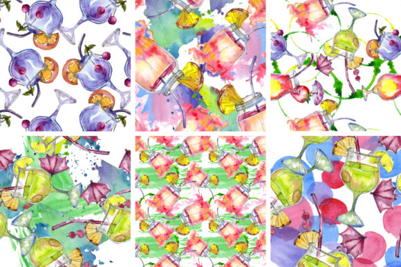 Print on Demand: Cocktail Illustrations Watercolor Party Graphic Illustrations By MyStocks - Image 6