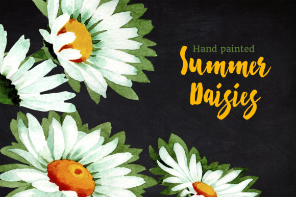 Print on Demand: Watercolor Daisy White Flower Graphic Illustrations By MyStocks - Image 7