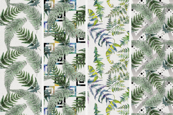 Print on Demand: Green Fern Leaves Watercolor Png Graphic Illustrations By MyStocks - Image 7