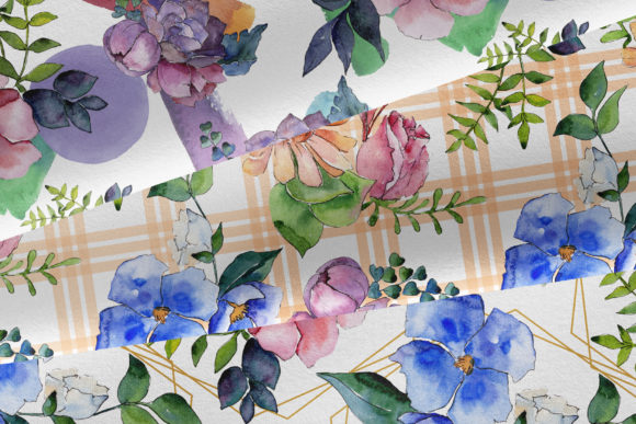 Print on Demand: Bouquet of Summer Flowers Intrigue Watercolor Graphic Illustrations By MyStocks - Image 7