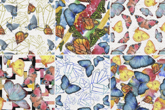 Print on Demand: Miracle of Nature Butterflies Watercolor Graphic Illustrations By MyStocks - Image 7